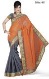Maruti Fashion Solid Bollywood Chiffon S...