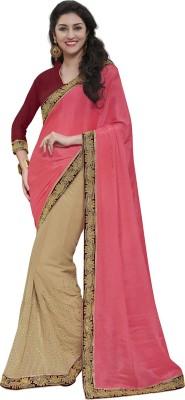 MelluhaFashion Embriodered Fashion Georgette Sari