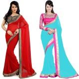 Tulsi Nx Solid Bollywood Chiffon Saree (...