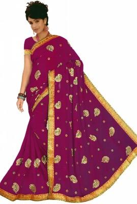 Bosan Fashion Embellished Fashion Chiffon Sari