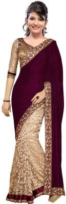 Aracruz Embriodered Daily Wear Velvet Sari