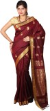 JCN Self Design Mysore Cotton Sari (Maro...