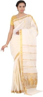 APR Brand Self Design Balarampuram Handloom Cotton Sari