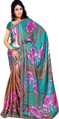 Kavita Fashion Floral Print, Geometric Print Fashion Satin, Chiffon Sari