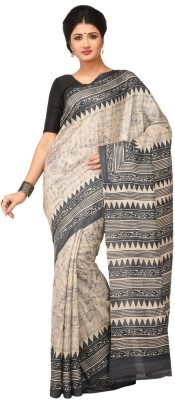 Rene Printed Fashion Handloom Tussar Silk Sari