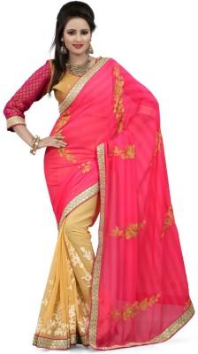 Shivam Textiles Embellished, Embriodered Fashion Chiffon, Georgette Sari