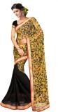 Triveni Striped Fashion Net, Chiffon Sar...