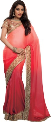Recrafto Embriodered Fashion Georgette Sari