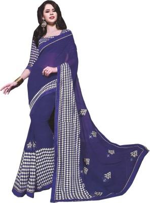BPS Printed, Checkered, Embellished, Argyle Fashion Georgette Sari