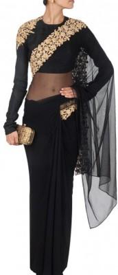 Suitsvilla Embriodered Fashion Net Sari