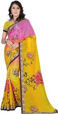 Bluebirdimpex Printed Daily Wear Shimmer Fabric Sari