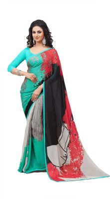 LimeMode Printed Fashion Georgette Sari