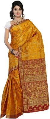 Alankrita Self Design Kanjivaram Handloom Art Silk, Jacquard Sari