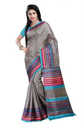 Bansy Fashion Solid Bhagalpuri Georgette Sari