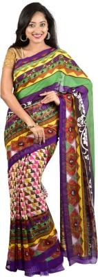 Nyaye Printed Fashion Synthetic Sari