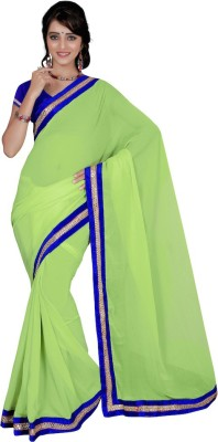 Vivels Plain Fashion Georgette Sari