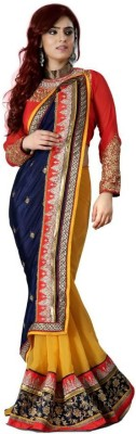 Mukta Mishree Exports Embriodered Fashion Georgette Sari