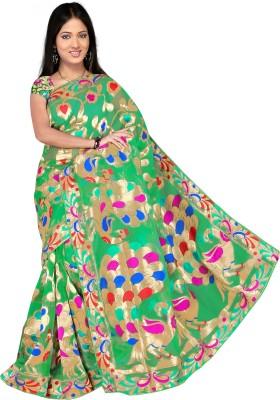 R D Fab Self Design Banarasi Art Silk Sari