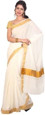 Kunal Solid Fashion Handloom Cotton Sari