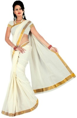 Zeena Solid Fashion Handloom Cotton Sari