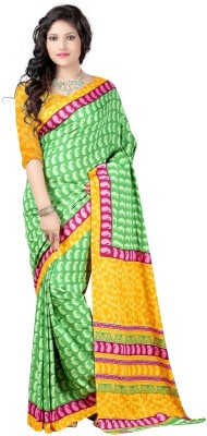 Monika Silk Mill Printed Daily Wear Crepe Sari