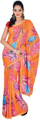 Sukuma Solid Fashion Handloom Georgette Sari