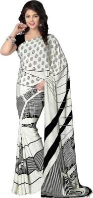 Shop Plaza Printed Daily Wear Crepe Sari