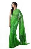 Sarswati Printed Bandhej Pure Chiffon Sa...