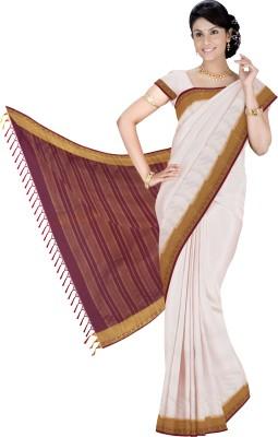 Srinidhi Silks Plain Mysore Crepe Sari