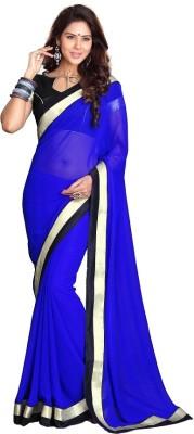 Silkcity Solid Fashion Chiffon Sari