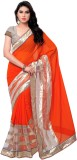 Satya Sita Solid Fashion Georgette Saree...
