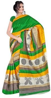 DWM Printed Bhagalpuri Silk Cotton Blend Sari