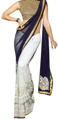 Shaurya Trendz Self Design Fashion Georgette Sari