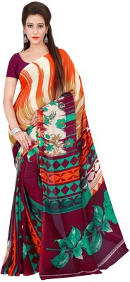 Desi Look Floral Print Fashion Georgette Sari