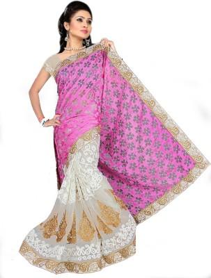 Shivam Fashions Embriodered Bollywood Brasso Fabric Sari