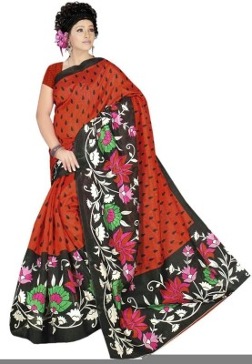 West Turn Printed Bhagalpuri Handloom Synthetic Georgette Sari