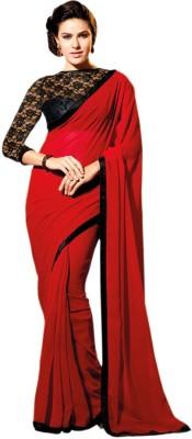Charvi Plain Fashion Georgette Sari