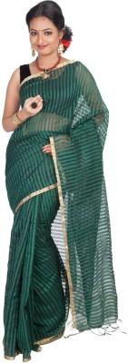 Jhumya Striped Tant Handloom Cotton Sari