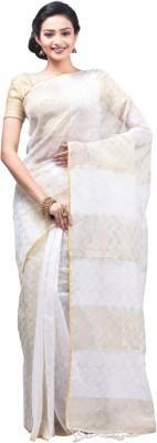 Creation Floral Print Jamdani Net Sari