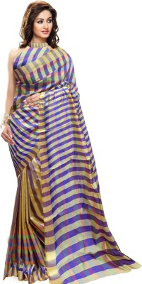Trendz Printed Fashion Silk Sari(Multicolor)