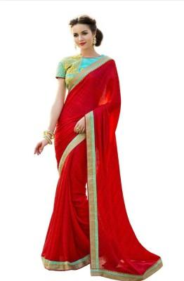 Nayra Fashion Embriodered Fashion Satin, Chiffon Sari