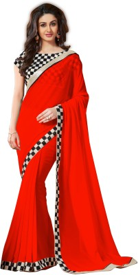 Fableela Plain Fashion Chiffon Sari