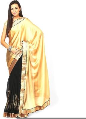 Lime Embriodered Fashion Handloom Poly Silk Sari