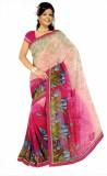 Womantra Floral Print Fashion Chiffon Sa...