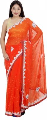 Arifzariart Embriodered Fashion Georgette Sari