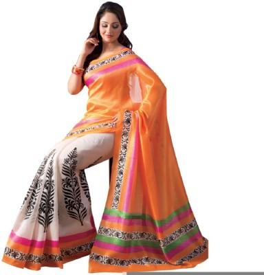 Lime Embellished Fashion Handloom Art Silk Sari