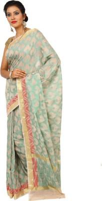 Kataan Bazaar Woven Banarasi Handloom Tussar Silk Saree(Beige) at flipkart