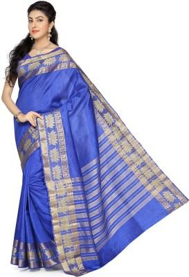 Rani Saahiba Woven Fashion Tussar Silk Sari(Blue)