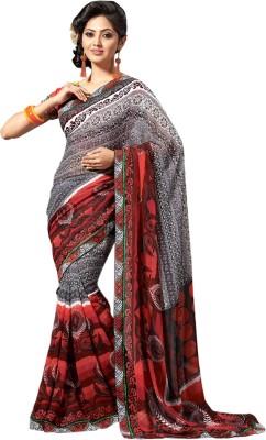 Khushali Self Design, Printed Fashion Georgette Sari