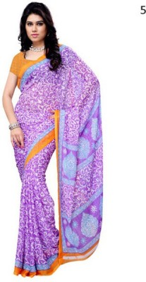 MyDeal Printed Daily Wear Georgette Sari